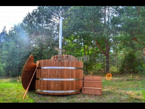 holz hot tub basic thermoholz serie timberin youtube. Black Bedroom Furniture Sets. Home Design Ideas