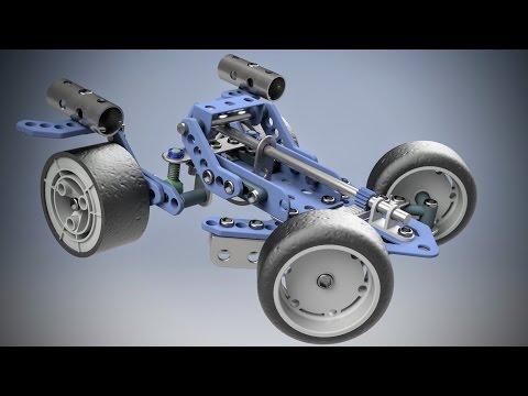 Erector Set Car CAD Inventor