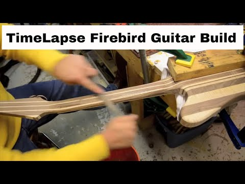 Time Lapse Firebird Guitar Build - Multi-laminate neck through with a Chris-Craft Vibe