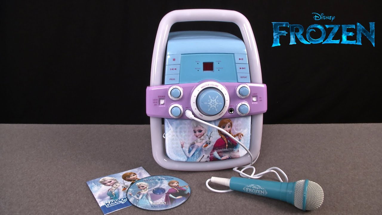 Disney Frozen Flashing Lights Karaoke Machine From Sakar