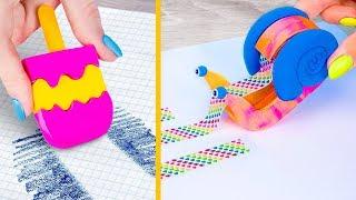 10 حيل غريبة(تقدروا تعملوها بنفسكم) لأدوات مدرسية في الصيف. لازم تجربوها / مقالب الرجوع للمدرسة!