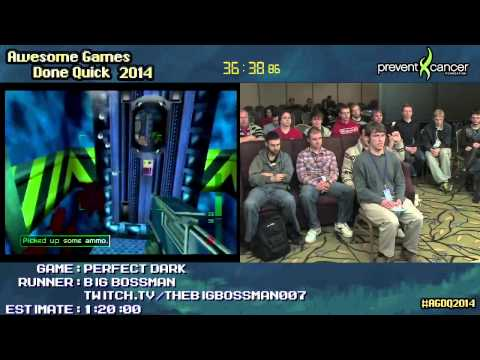 Perfect Dark :: SPEED RUN (0:58:34) (Perfect Agent) #AGDQ 2014 [N64]