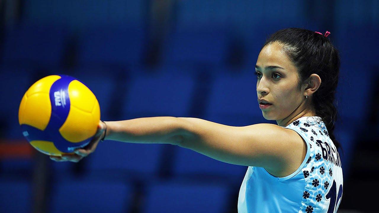 Craziest Volleyball Serves by Samantha Bricio | Powerful Spikes (HD)