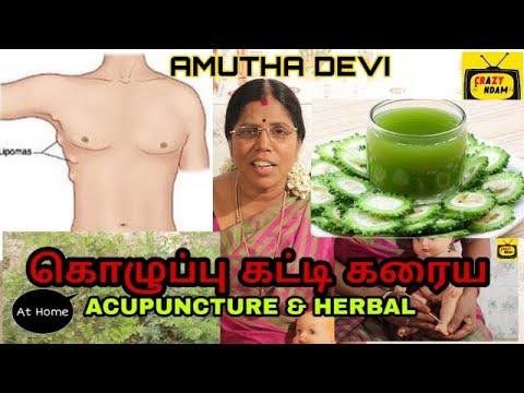 கொழுப்பு கட்டி கரைய | lipoma acupuncture points & herbal at home| Amutha devi | Crazy Andam