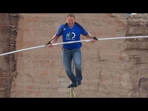 Nik Wallenda Crosses 1,500-Foot Grand Canyon Gorge on Tightr