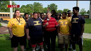 East High celebrates Rugby championship