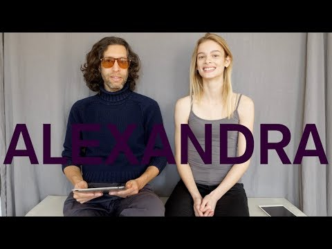 Model Alexandra Evankovich at Silent Models' Favorite Things