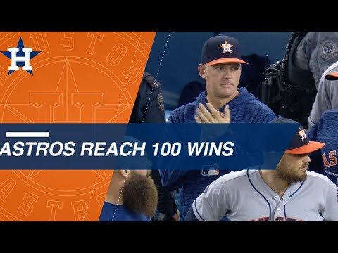 Watch the Astros reach 100 wins in 2018