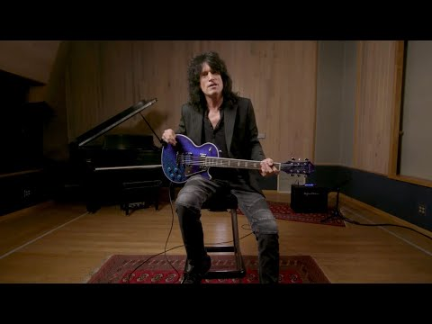 Epiphone's new Tommy Thayer Electric Blue Les Paul looks
