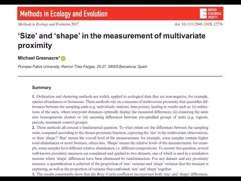 """""""Size"""" and """"Shape"""" in Multivariate Proximity"""