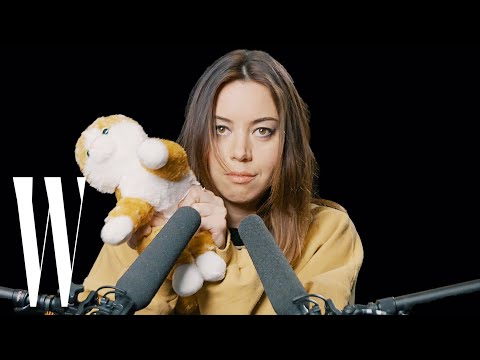 Aubrey Plaza Explores ASMR with Whispers, Peacock Feathers, and Cornflakes  W Magazine