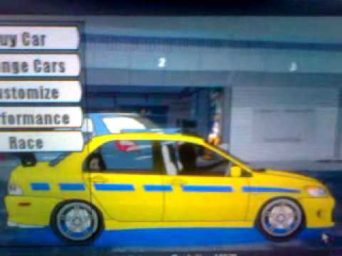 Drag racer v3 brian evo from 2fast2furious 3gp youtube