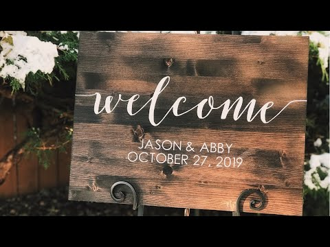 DIY Welcome Sign | Rustic Wedding Decor | Custom Wood Sign W/ Paint | Cricut Design Space