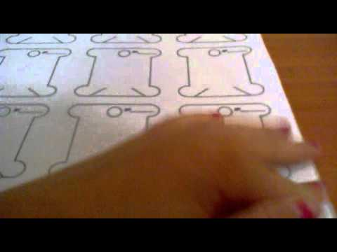 Урок№4))) Как делать бобины для ниток)))