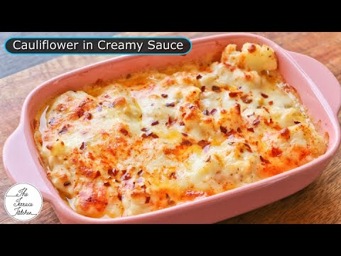 Baked Cauliflower in White Sauce   Baked Cheese Cauliflower You Would Love ~ The Terrace Kitchen