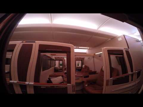 SQ11 LAX-SIN Singapore Airlines A380 First Class Suites Los Angeles to Singapore