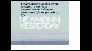 Reamonn-Yesterday Lyrics