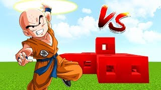 DESAFIO LUCKY BLOCKS ROBLOX VS KRILLIN EN MINECRAFT - RETO MINECRAFT DRAGON BALL SUPER