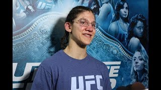 After a title loss to nicco montano for the ufc women's flyweight belt, roxanne modafferi promises return cage stronger and hopes that there will be another shot in her future.
