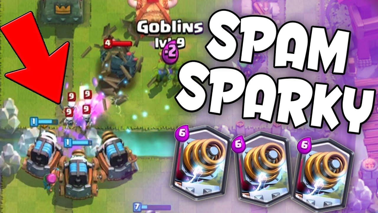 Clash Royale Sparky Spam Deck New Legendary Card