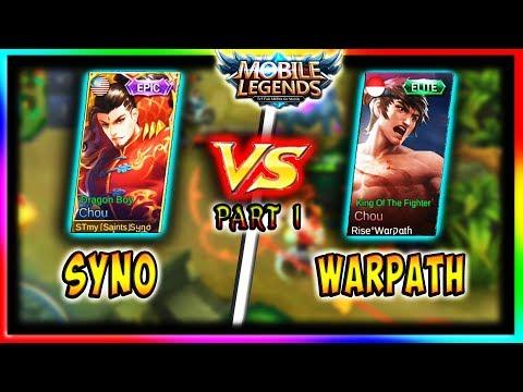 """Chou - Syno vs Warpath (Part 1)""   Mobile Legends   1vs1 Series - Season 5 Top 1 vs Top 3 Global"