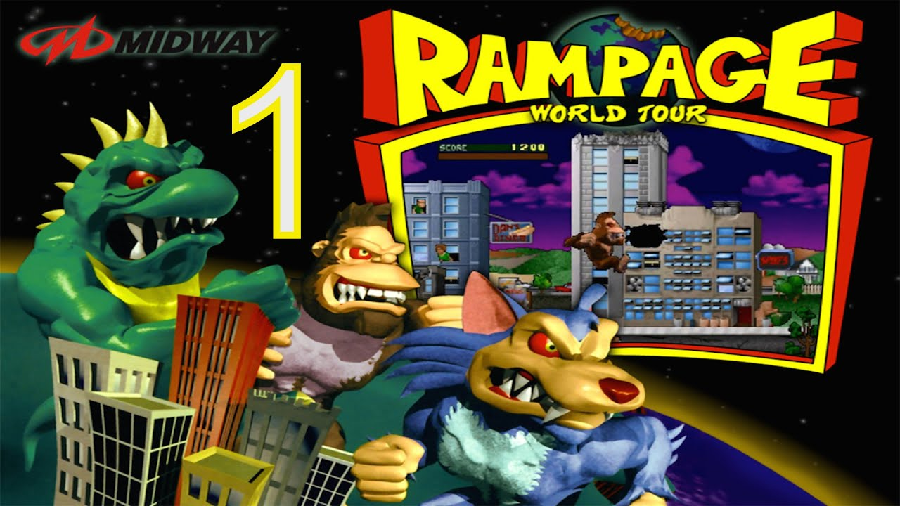 Rampage World Tour Part 1 Classic Ps1 Arcade Video Game Youtube