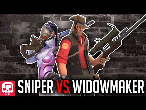 SNIPER VS WIDOWMAKER RAP BATTLE by JT Music (Overwatch vs TF2)
