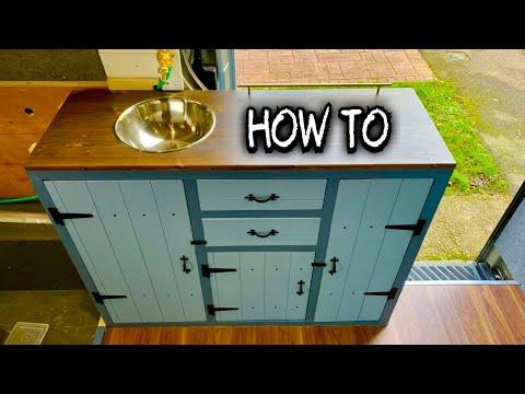 How To Build Diy Kitchen Cabinets Units Mercedes Sprinter Camper Van Conversion Youtube