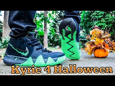 NIKE KYRIE 4 HALLOWEEN REVIEW & DOPE ON FEET!!