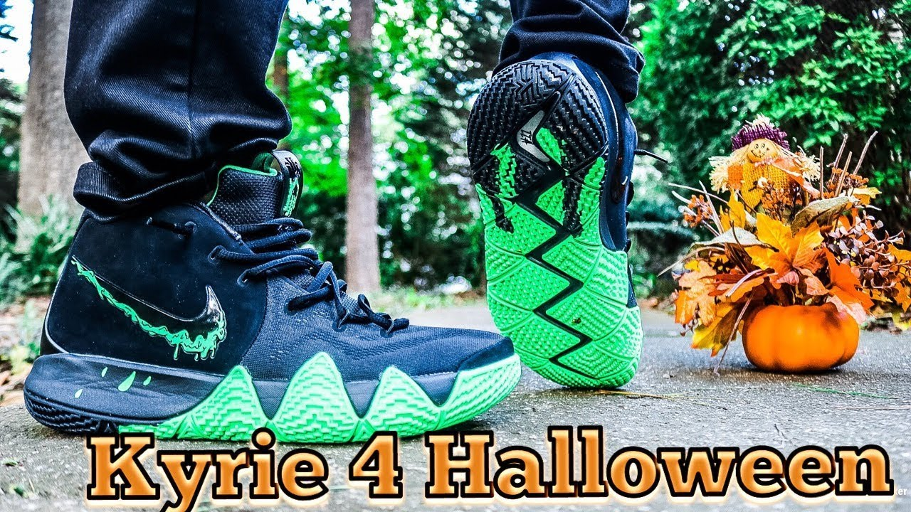 pretty nice 80c50 61d4f NIKE KYRIE 4 HALLOWEEN REVIEW & DOPE ON FEET!!