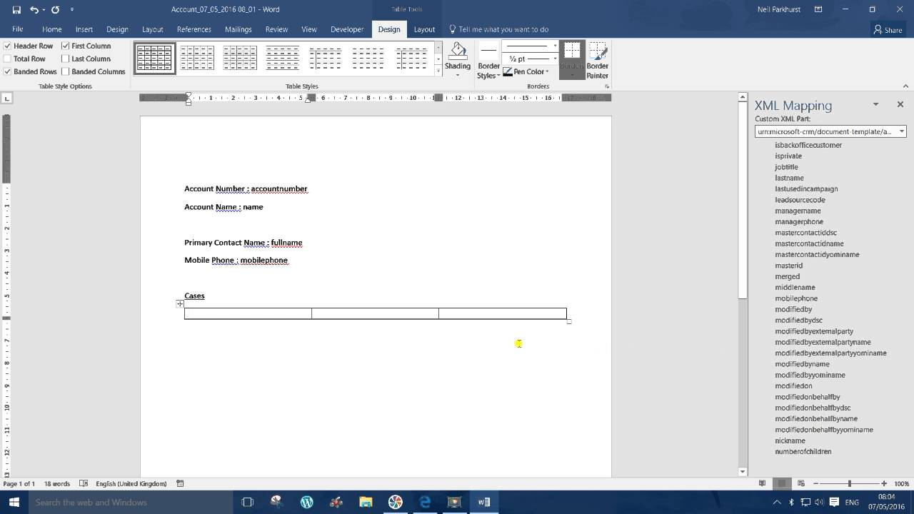Word Templates in CRM 2016 - YouTube