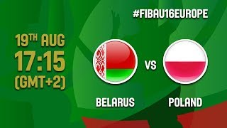 Belarus v Poland - Live - Classification 9-10 - FIBA U16 European Championship 2017 - DIV B