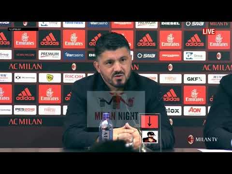 Gattuso conferenza pre Benevento Milan FULL HD 02 12 2017