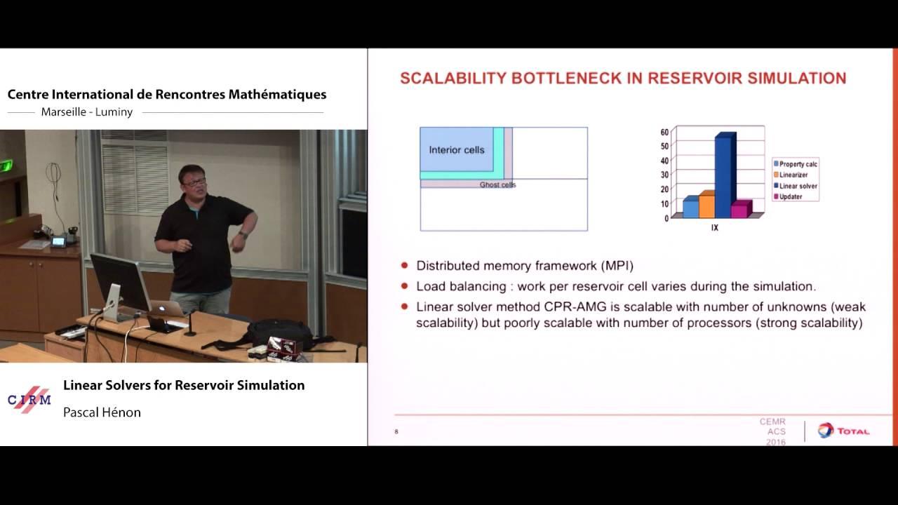 Pascal Hénon: Linear solvers for reservoir simulation