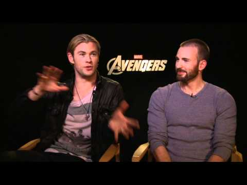 Jacki Jing interviews THE AVENGERS Cast: Chris Hemsworth, Chris Evans, Tom Hiddleston & More
