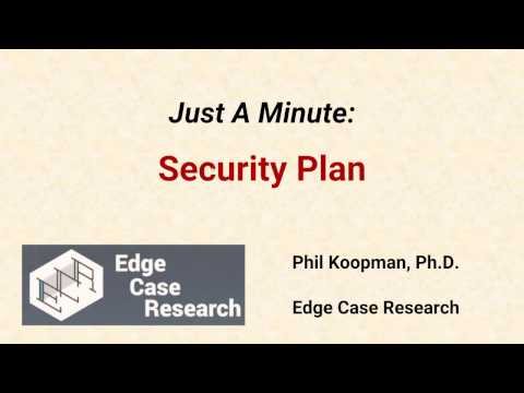 Just a Minute on Embedded System Security Plans