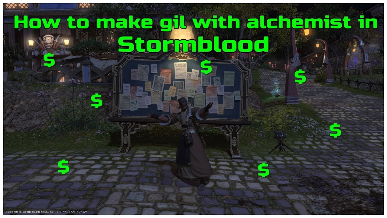How to make gil with alchemist in stormblood