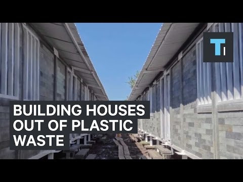 Building houses out of plastic waste