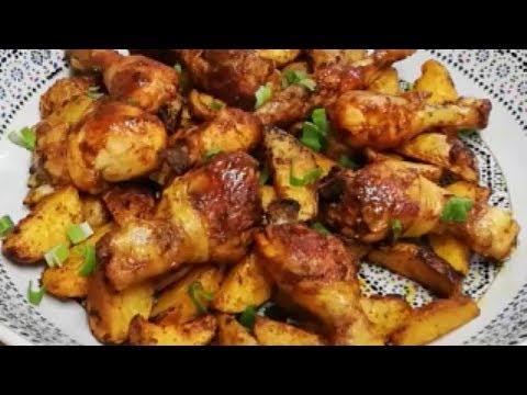poulet-marinÉ-aux-potatoes-Économique-et-facile-(cuisine-rapide)