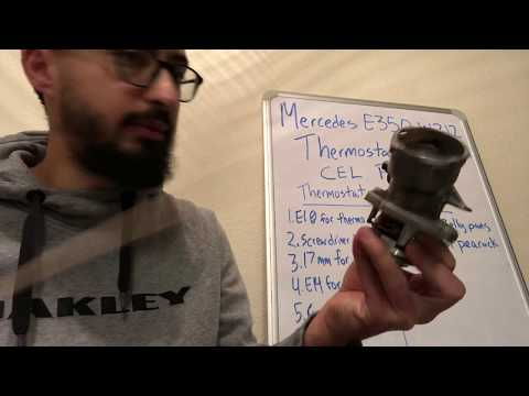 Mercedes E350 P0128 Thermostat replacement Step by Step DIY W212