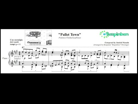 "Pokémon FireRed/LeafGreen: ""Pallet Town"" - (Piano Sheet Music)"