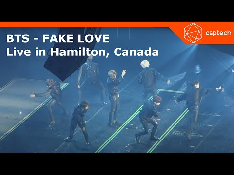 BTS - FAKE LOVE (Love Yourself World Tour - Hamilton 2018)  First Show in Canada