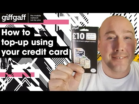 How to top-up using your credit card | tutorial | giffgaff