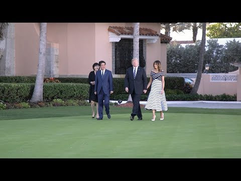 President Trump Welcomes Japanese Prime Minister Shinzo Abe