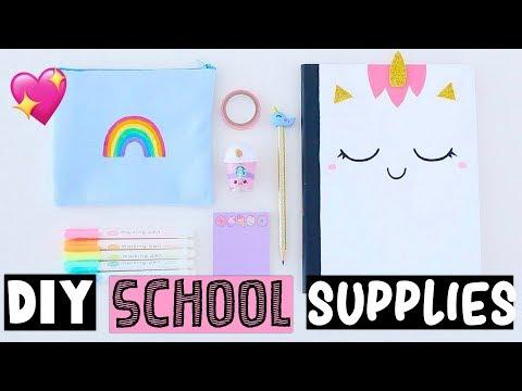 4 DIY UNICORN SCHOOL SUPPLIES For Back To School 2019!