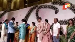 Engagement Ceremony Of DK Shivakumar's Daughter With SM Krishna's Grandson