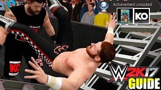 WWE 2K17 Tutorial - Ladder Bridge POWERBOMB! & Keeping It Together (#WWE2K17 ACHIEVEMENT/TROPHY)
