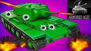 Мульт танки Armored aces #12 советский танк КВ-1 онлайн игра Видео для детей как Tanktastic