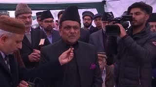 Amir sahib UK, under guidance of Hazrat Khalifatul Masih, lays foundation for Scunthorpe Mosque