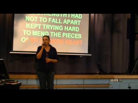 Tanya Jenkins sings I WILL SURVIVE